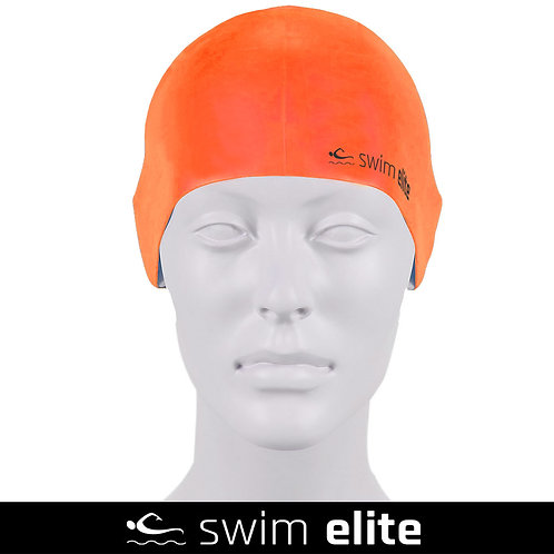 Neon Orange Silicone Swimming Cap