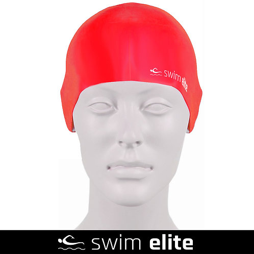 Red Silicone Swimming Cap
