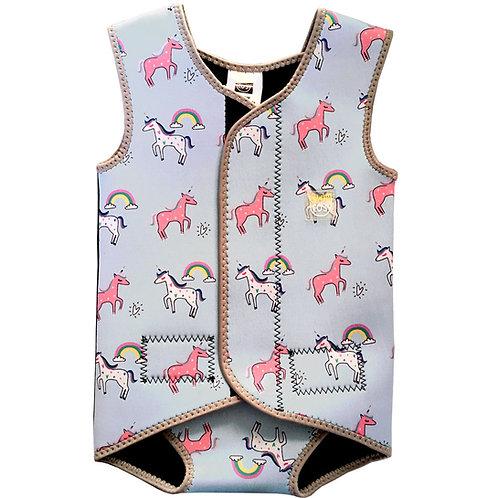 Sky Blue Unicorns Swim Cosy Wetsuit/Vest