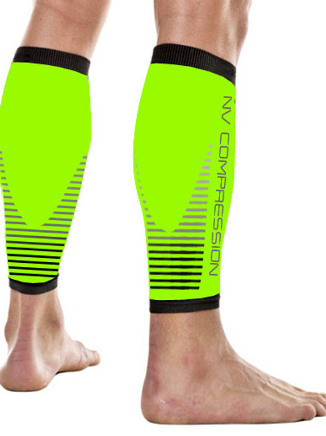 Essential Race & Recover Sleeves - Fluo Yellow Stripes