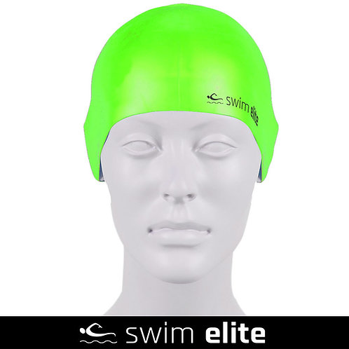 Vivid Green Silicone Swimming Cap