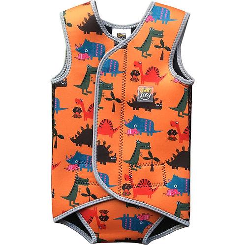 Orange Dinosaurs Swim Cosy Wetsuit/Vest