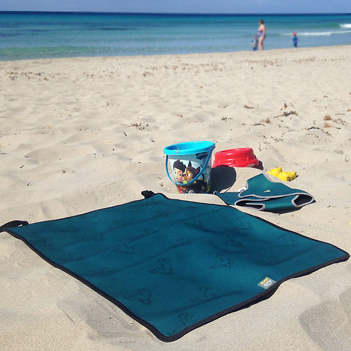 Teal Ducks Swim Cosy Changing Mat