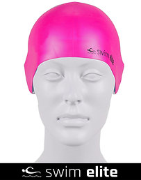 Vivid Pink Silicone Swimming Cap