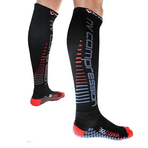 365 Cushion Socks Black/Red