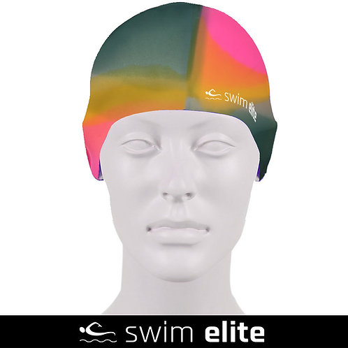 Multi Pink/Green/Yellow Silicone Swimming Cap