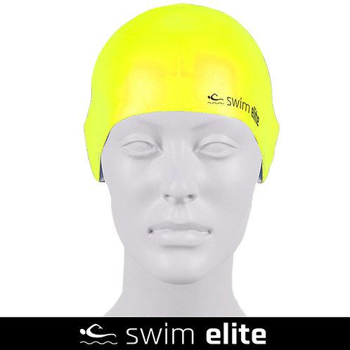 Neon Yellow Silicone Swimming Cap