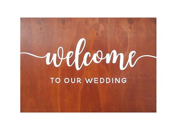 Welcome Wedding Board