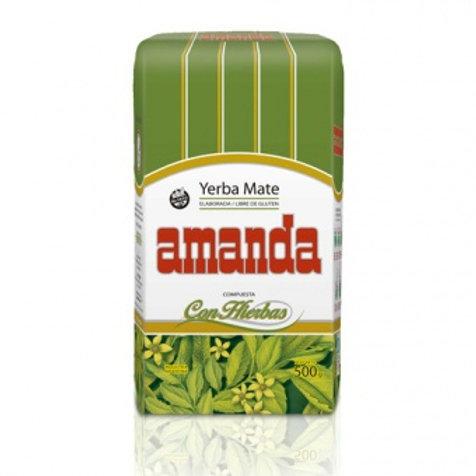 Мате (yerba mate) Amanda Elaborada Con Hierbals с травами 0.5 кг