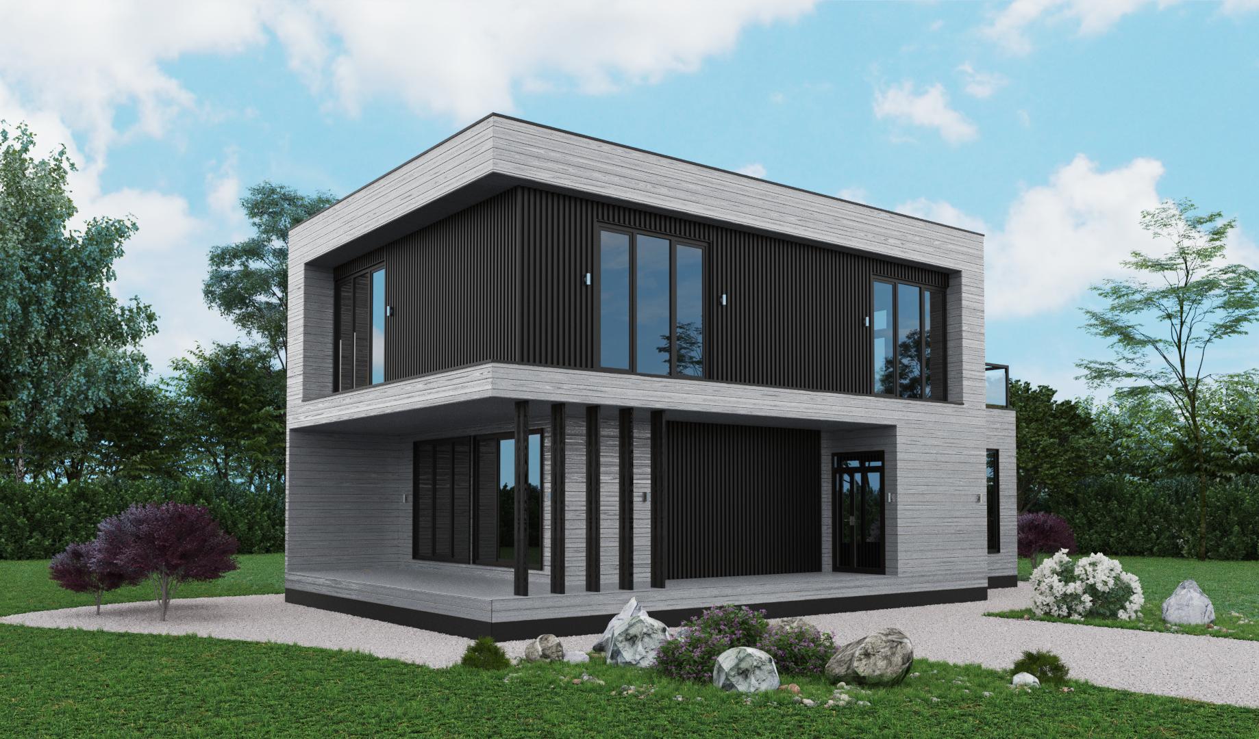 3 дом. Вид 1. Серый
