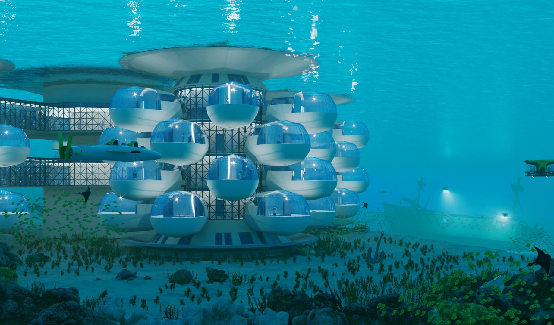 Подводная гостиница HIVE вид 3