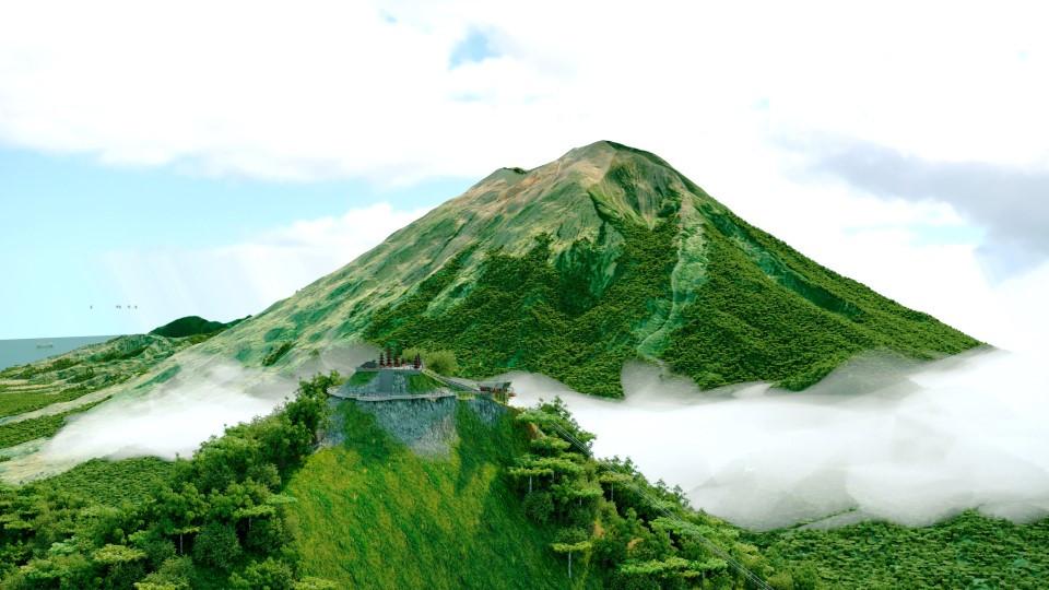 Действующий вулкан Агунг