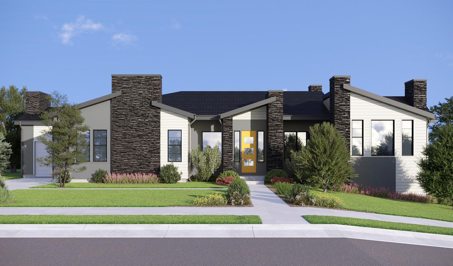 Дизайн фасада в г. Эри, Колорадо, США