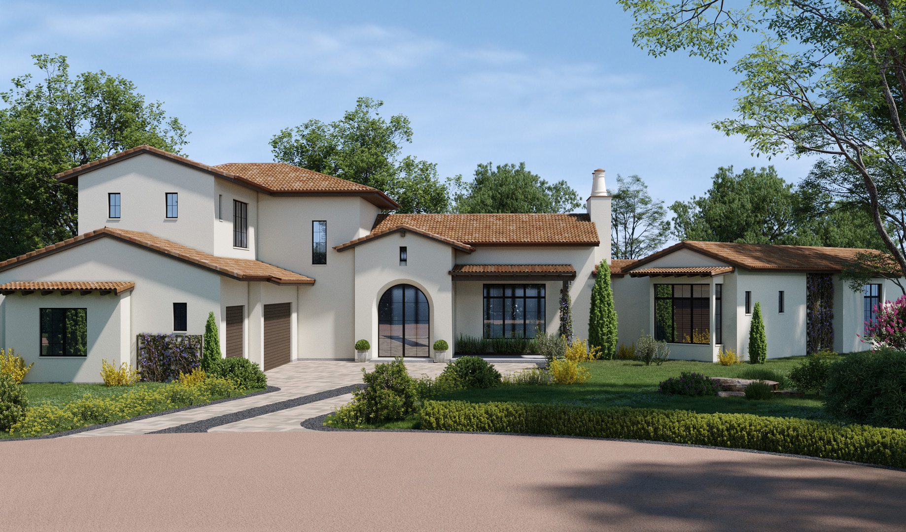 Дизайн фасада в г. Хорсшу Бэй, Техас, США