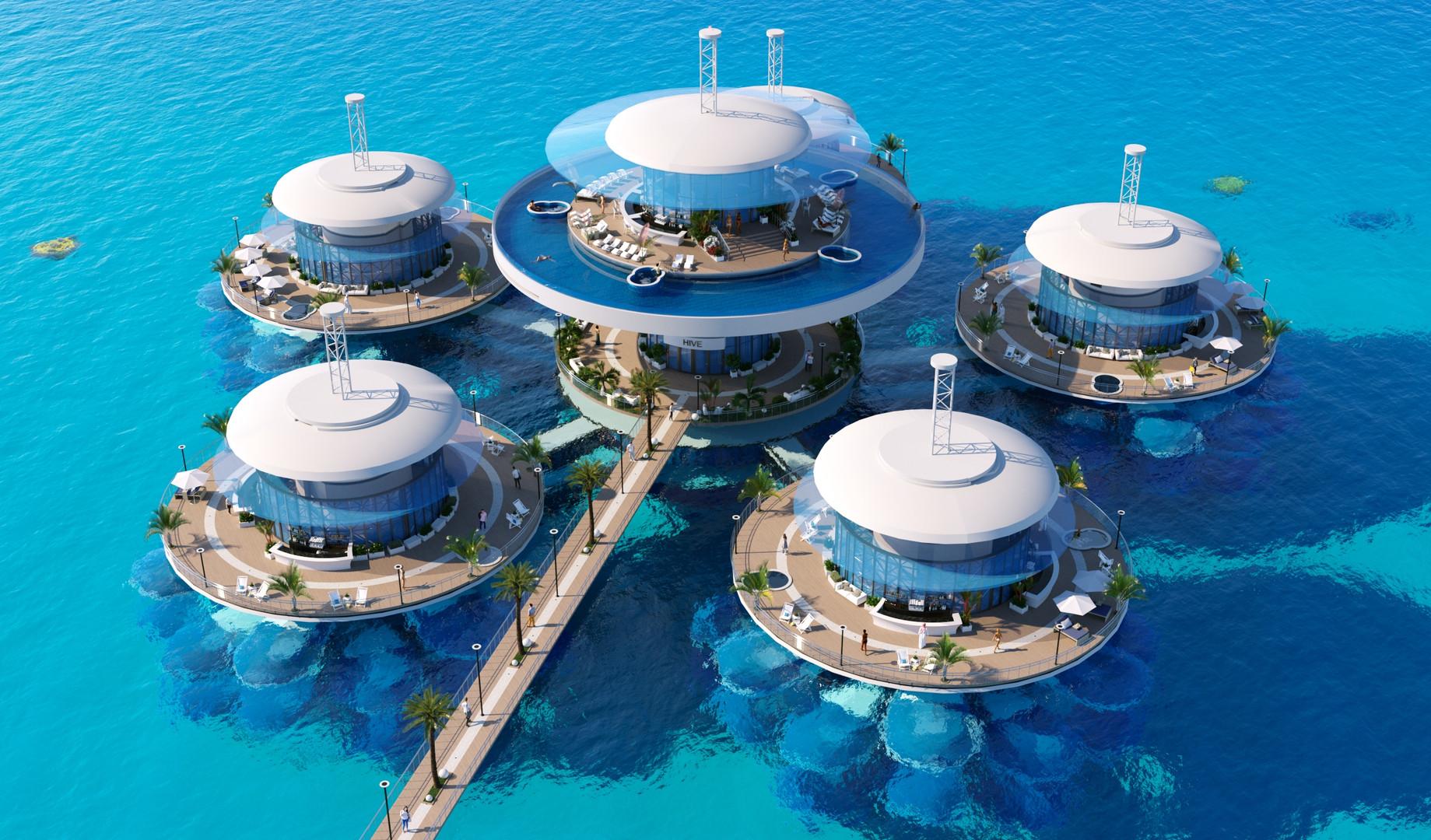 Подводная гостиница HIVE вид 1