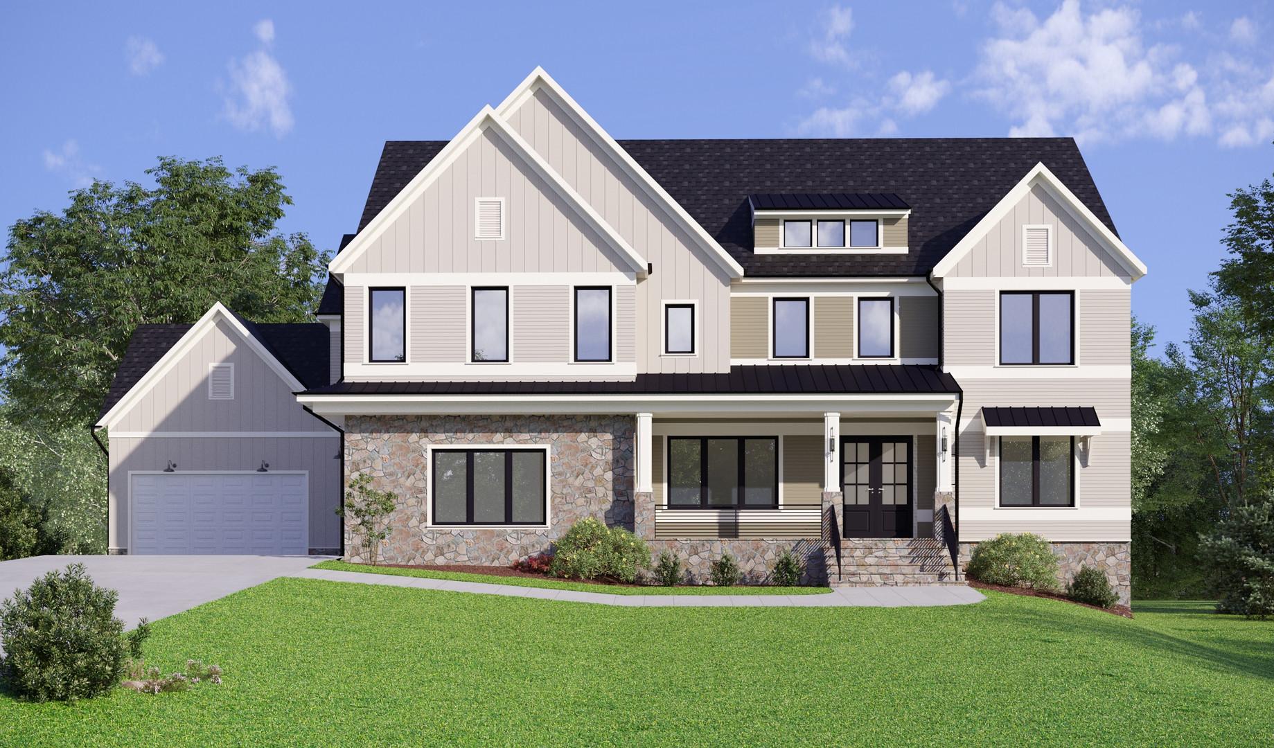 Дом, пригород г. Вашингтон, Вирджиния, США