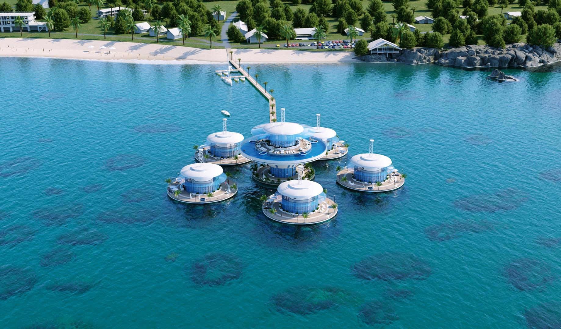 Подводная гостиница HIVE вид 4