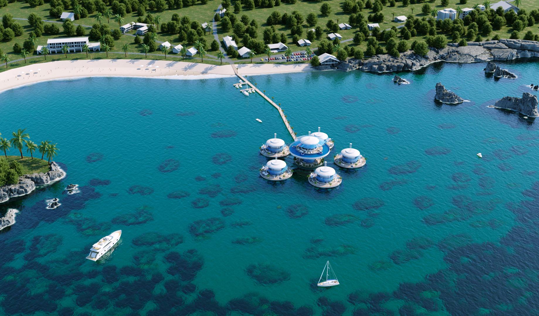 Подводная гостиница HIVE вид 2