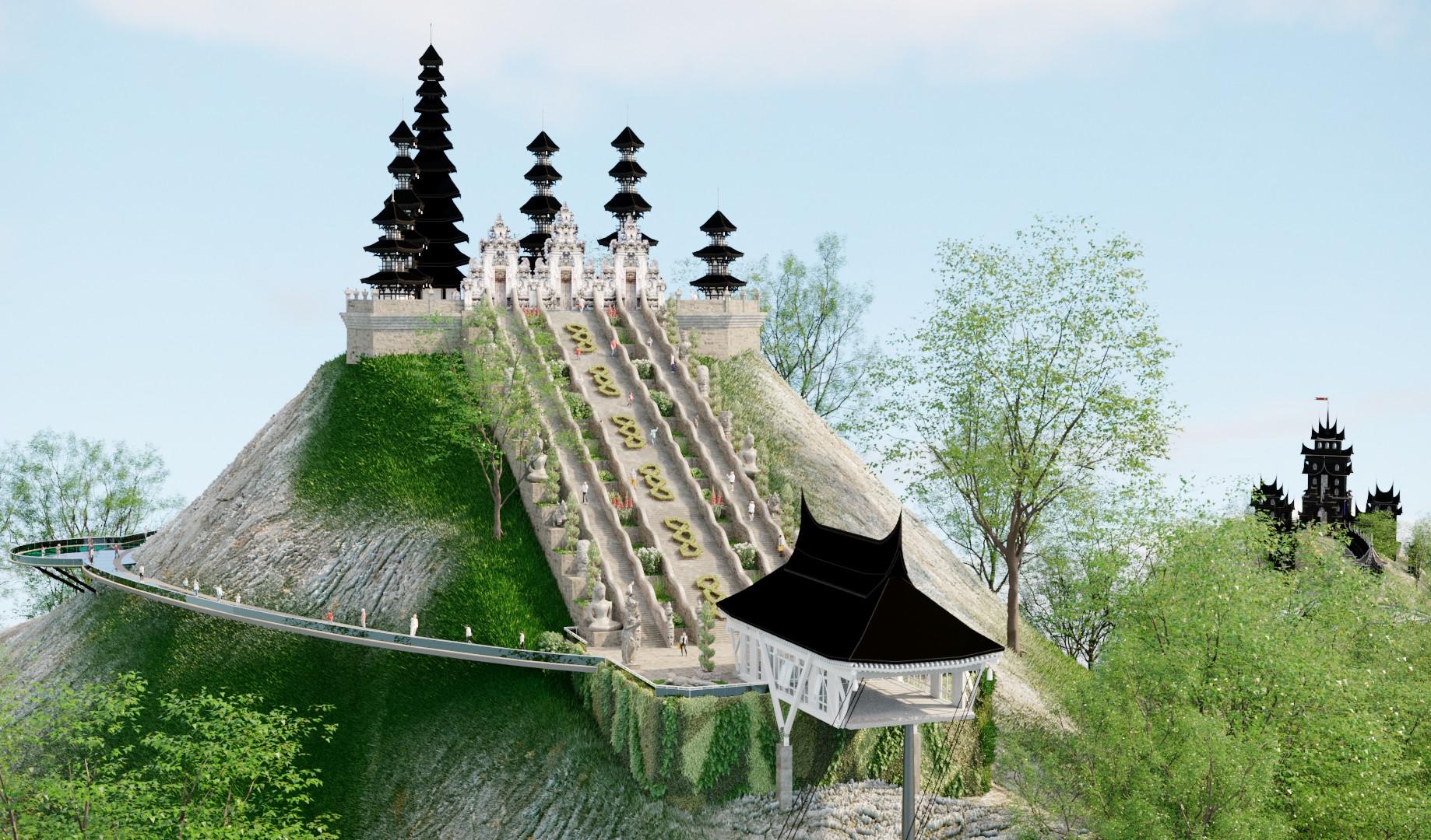Храм на горе Абанг