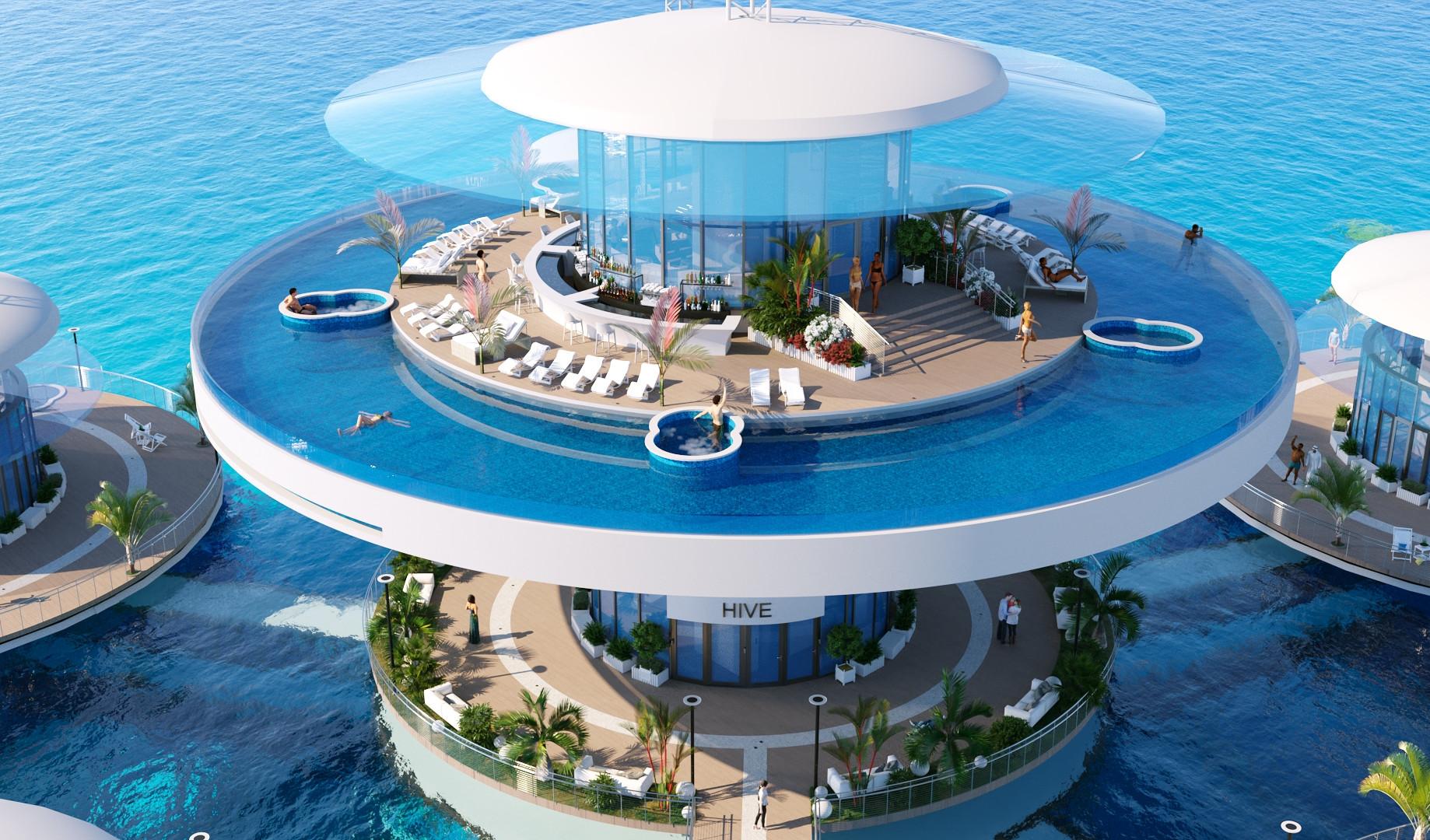 Подводная гостиница HIVE вид 5