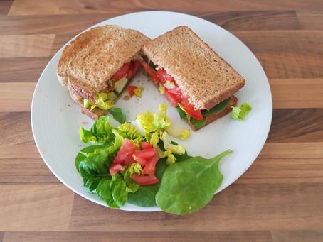 Healthy lunch idea: Falafel Sandwich