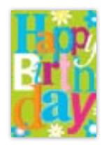 HIC8389 Mini Silvery Birthday