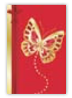 HIC8315 Mini Red Butterfly