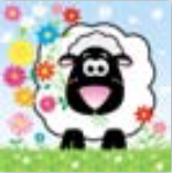 HIC15009 Glitter Sheep