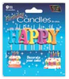 IGc-23 happy bIrthday candles