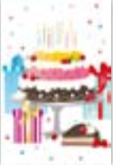 s0084 Grand Cake Post cards (single sided)