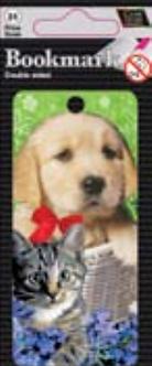 IGa-1005 3d Kitten & Puppy bookmark
