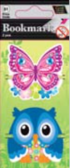 IGa-1006 Butterfly Owl Bookmarks