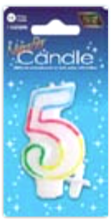 IGc-5 number candle 5