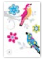 HIC8372 Mini Modern Birds