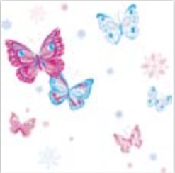 BF315 Pretty Butterflies Flat Wrapping Paper