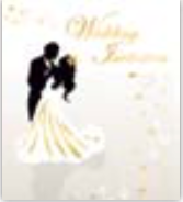 HIC25000 en Romantic Couple Invitation