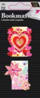 IGa-1011 Heart & Flowers bookmarks