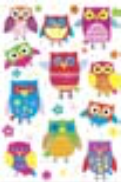 s0063 Colour Owls
