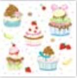 HIC15010 GItter Cupcakes