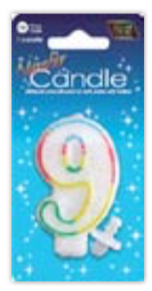 IGc-9 number candle 9