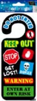 IGD-1038 WARNING DOOR HANGER