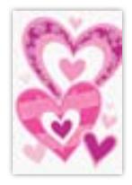 HIC8373 Mini Decorative Hearts