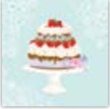 HIC15018 GlItter Cake