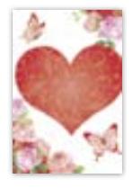 HIC8326 Mini Rose Heart