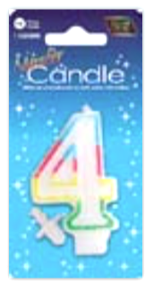 IGc-4 number candle 4