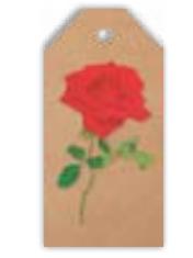 HIC40011 CRAFT ROSE TAG