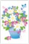 s0082 Sweet Flowers Post cards (single sided)