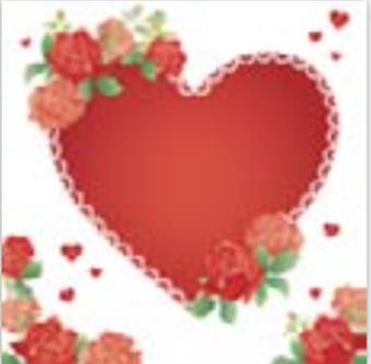 HiC4036 Big glittering Heart