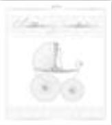 HIC25001 en Baby Stroller Invitation