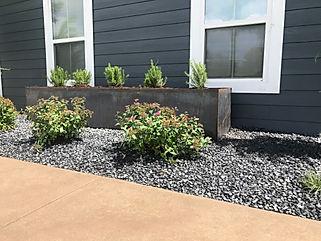Rectangle steel planter